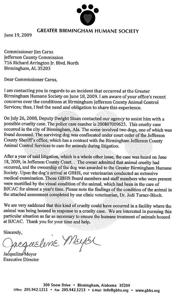 GBHS Letter to CoCommissioners City Councilors