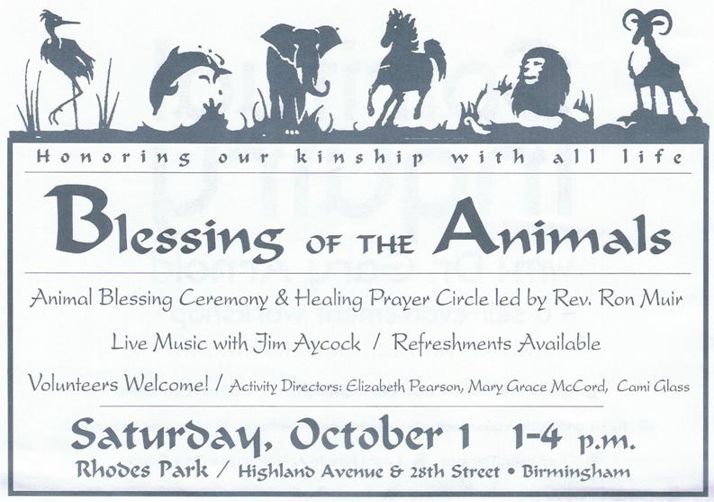 BLESSING OF THE ANIMALS   Higher Ground for Animals